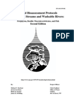 Bioassessment Protocols for Use in Streams and Wadeable Rivers