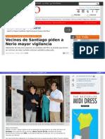 10-04-2015 Vecinos de Santiago piden a Nerio mayor vigilancia
