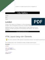 Websites Often Display Content in Multiple Columns