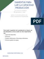 Herramientas Para Calcular La Capacidad de Producción.