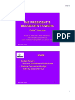 The President's Budgetary Power by  Emilia Boncodin
