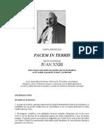 Carta Encíclica Pacem in Terris (Juan Xxiii)