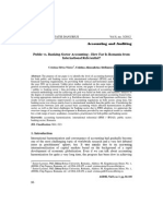 Public vs Banking Accounting
