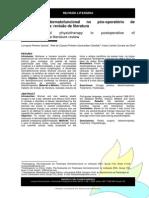 Fisio Dermatofuncional Pós-operatório