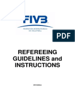 FIVB VB Referee Guidelines and Instructions 2014 Final