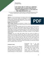 Analysis of Toxic Heavy Metals 1325932478