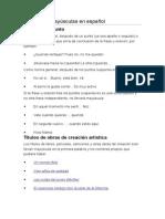 Uso de Las Mayúsculas en Español