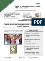 Encuesta Elecciones 2015-UTEC
