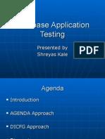 Database Application Testing