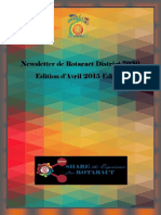 District Newsletter April 2015 (French)
