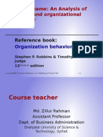 Organizatinal Behavior Introductory Presentation