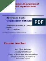 Organizatinal Behavior Introductory Presentation
