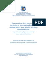 Caracteristicas construcción curricular en EGB. Un estudio de casos en una universidad tradicional chilena.