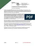 Rn / Lpn Examination Application Information Dear