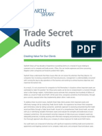 Trade Secrets Audits Brochure