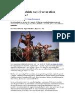 Le Gaz de Schiste Sans Fracturation Hydraulique