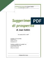 Suggerimenti Di Prosperità Di Joan Sotkin