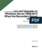 Vcenter Server Heartbeat 66 Installation Upgrade Windows 2008 2012 Virtual Guide