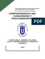 COMPORTAMIENTO DEL CONSUMIDOR Y POSICIONAMIENTO 1.docx