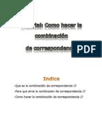 Tutorial:como hacer una combinacion de correspondencia