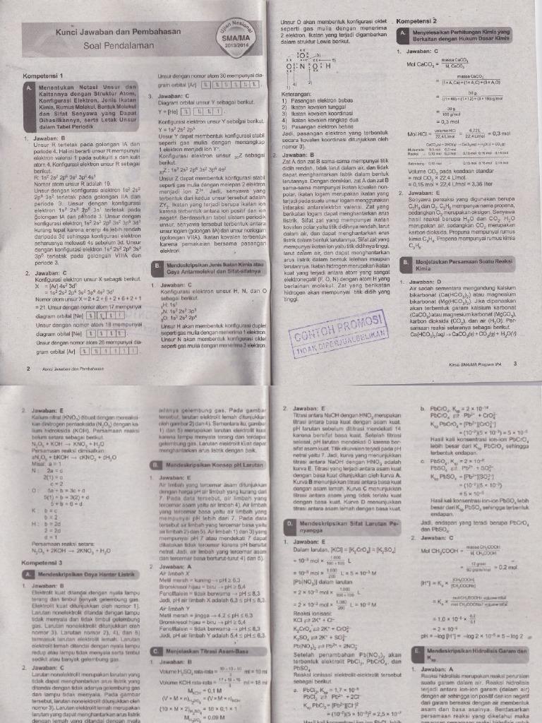 Pembahasan Buku Detik Detik Un Kimia Untuk Program Ipa