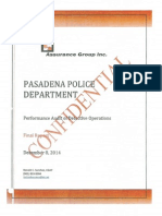 Pasadena Police Department Audit