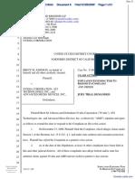 Johnson v. NVIDIA Corporation et al - Document No. 8