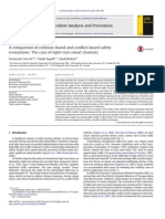 Comparison of Collision-based and Conflict-based Safety Evaluations
