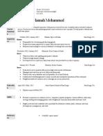 hannah mohammed resume