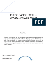 Curso Basico Excel – Word – Power Point