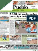 Portada 03-02-2015 Diario El Pueblo