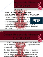 Informacion sobre Elecciones al CNM - Multas y Dispensas