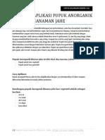 Panduan Aplikasi Pupuk Anorganik Untuk Penanaman Jahe v02