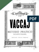 Vaccaj Mezzo soprano