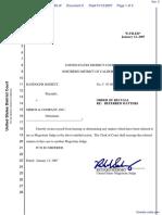 Dossett v. Merck & Company Inc. et al - Document No. 5