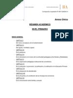 Régimen Académico Nivel Primario