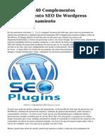 <h2>Los Mejores 40 Complementos posicionamiento SEO De Wordpress Para Posicionamiento</h2>