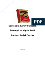 Cement Industry Pakistan a Strategic Analysis