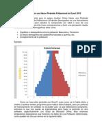 Hacer Pirámide Poblacional en Excel