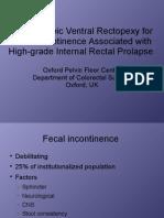 Laparoscopic Ventral Rectopexy