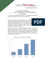 Cyber Monday Chileno Cerró con US$ 76 Millones en Compras - 2014