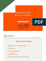 Substation Design-Substation Installation