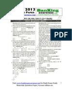 SBI PO 2013 Question Paper_www.bankingawareness.com