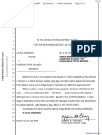 Johnson v. Contra Costa County - Document No. 6
