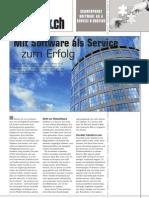 Software as a Service - Einführungsartikel in der Infoweek 02/07