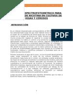 MÉTODO ESPECTROFOTOMETRICO PARA RESIDUOS DE NICOTINA EN CULTIVOS DE HOJAS Y CEROSOS.docx