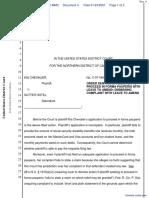 Chevalier v. Sutter Hotel - Document No. 4