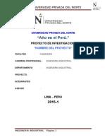 Modelo de Proyecto de Investigacion Upn 2015-1
