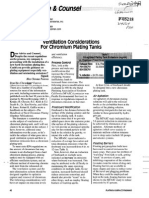 Ventilation Considerations for Chromium Plating Tanks