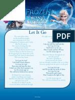 Frozen Activity Song Lyrics